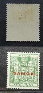 Britská Samoa 1932 - * známka 5s 26£