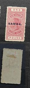 Britská Samoa 1914 - * známka 1£ SG126 90£