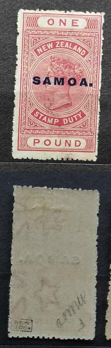 Britská Samoa 1918 - * známka 1£ SG132 110£