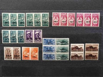 Jihozápadní Afrika 1943 - **/* rozšířený komplet, výjevy z války 36£