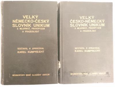 Velký česko-německý/německo-český slovník Unikum; Karel Kumprecht