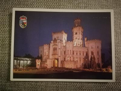 Pohlednice - Zámek Hluboká nad Vltavou, neprošla poštou