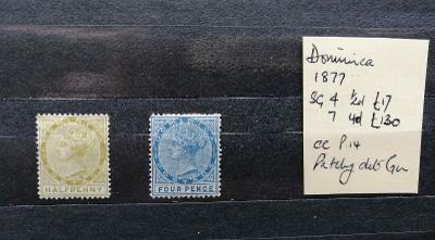 Dominika 1877 - SG4+7 150£