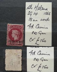Svatá Helena 1864 - SG14 150£