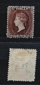 Svatý Vincent 1886 - SG51 100£