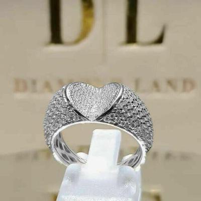 Prsten postříbřený s kamenem white sapphire vel.63