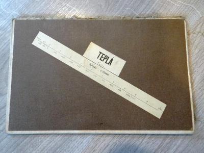 TEPLÁ-WSCHERAU-TUSCHKAU-TSCHERNOSCHINÉprastará mapa na plátně