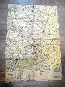 TÁBORSKO - špatný stav, stará mapa.