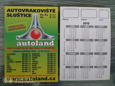 Kartičkové kalendáře rok 2010