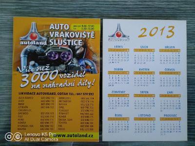 Kartičkové kalendáře rok 2013