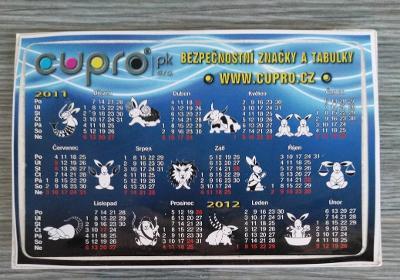 Kartičkové kalendáře rok 2011