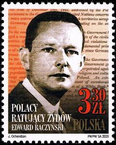 Polsko 2020 Známky Mi 5199 ** Židi Druhá světová válka Prezident zachr