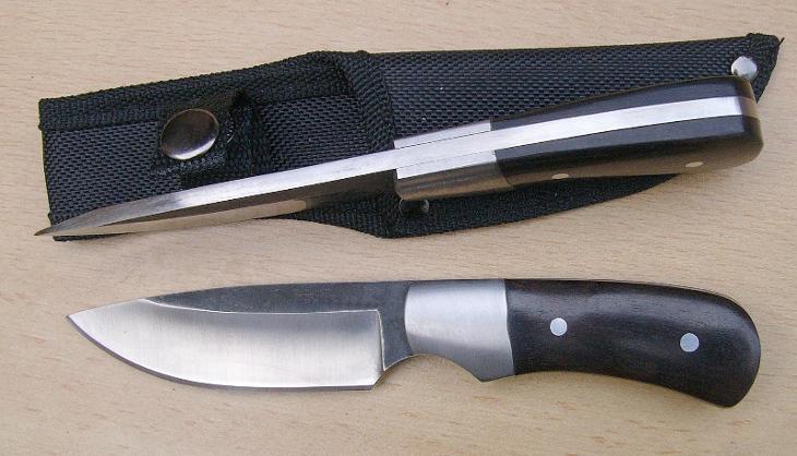 Lovecký nůž 19 cm, 5 mm čepel   - Střelba a myslivost