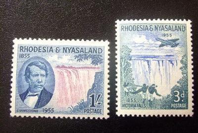 britská Rodézia a Nyasaland 1955 ** domáce motívy komplet mi. 17-18