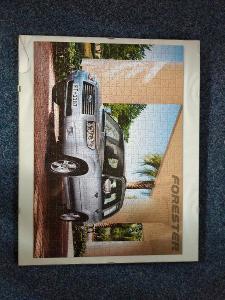 Puzzle Subaru Forester, složené 51 x 40 cm v rámu, použité