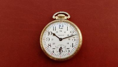 Zlaté 10k RG WALTHAM Vanguard, Rok 1894, Chronometr, Adj. v 6 Polohách