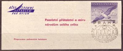 POF. 1 - AEROGRAM, VÝSTAVNÍ RAZÍTKO PRAGA 1962 (T7628)