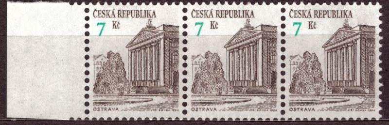 POF. 60 - OSTRAVA, 1994 - KRAJ. 3-PÁSKA S VV POSUN HODNOTY (T7766)