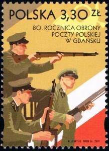 Polsko 2019 Známky Mi 5150 ** pošta Gdaňsk Druhá světová válka