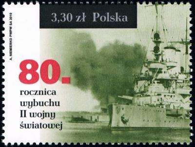 Polsko 2019 Známky Mi 5151 ** Druhá světová válka loď Westerplatte