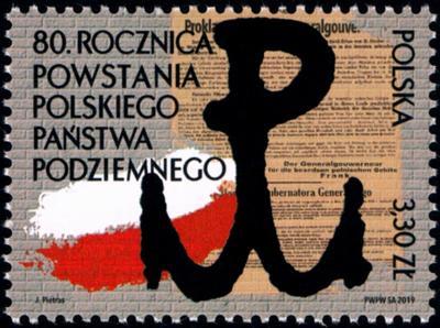 Polsko 2019 Známky Mi 5157 ** Druhá světová válka Polský podzemní stát