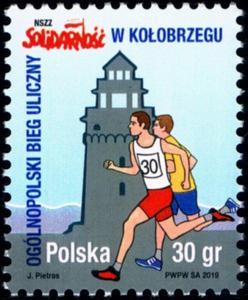 Polsko 2019 Známky Mi 5144 ** Solidarita sport běží Atletika