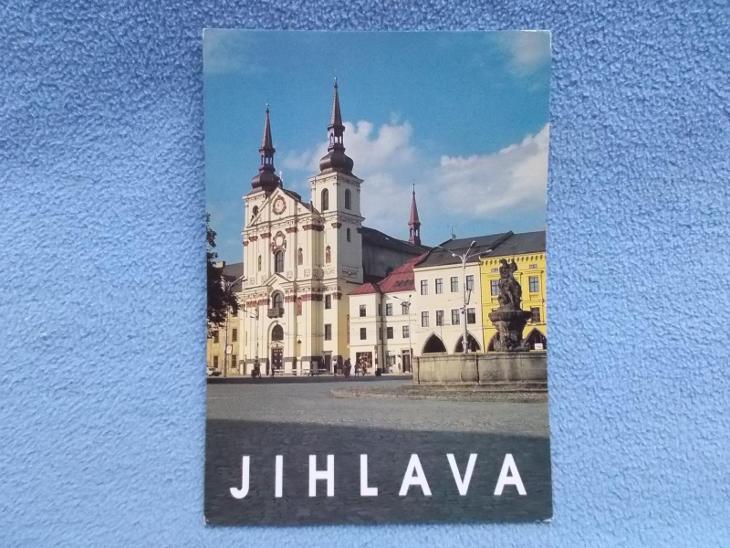 Jihlava Kostel sv. Ignáce kašna - Pohlednice