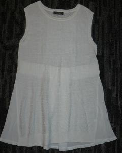 Tenký bílý top vel.XS/S, kombinace materiálů Jessica