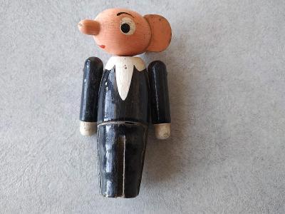 Loutka Soška Figurka Dřevo Spejbl Hurvínek Stará dřevěná figurka