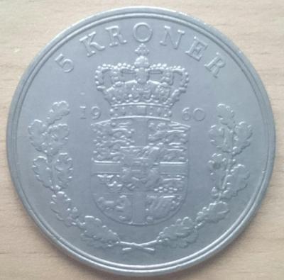 Dánsko 5 Kr 1960