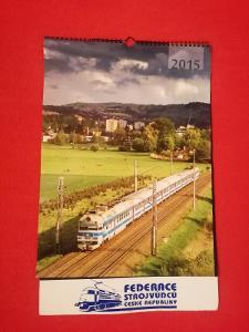 Nástěnný kalendář Federace strojvůdců české republiky  2015