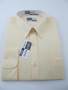 RETRO Pánská košile vel. eur 43 dlouhý rukáv zn. Euro man Excellent