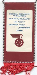 železnice Polsko / běh železničářů 1986 - vlaječka RETRO