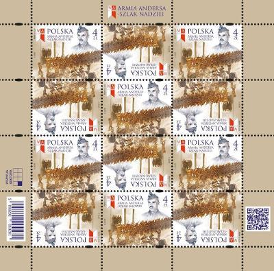 Polsko 2020 Známky aršík TL ** Andersova armáda Druhá světová válka