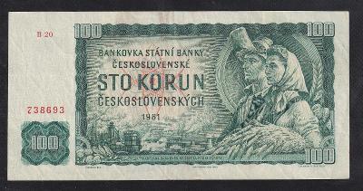 VZÁCNÁ 100 KORUNA 1961 SÉRIE B - STAV 1-!