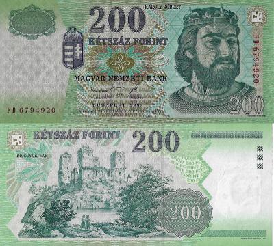 MADARSKO 200 Forint 1998 P-178 UNC