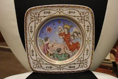 porcelánový talíř malovaný znač.Ole Winther
