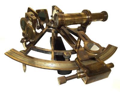 Henry Barrow Londýn námořní sextant z mosazi