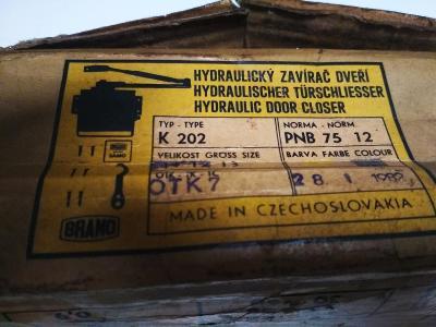 Hydraulický zavírač BRANO - K 202 / 12 zlatý, NOVÝ NEPOUŽITÝ - MOSAZNÝ