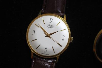 pánské hodinky PRIM 66, bílý číselník, TOP STAV
