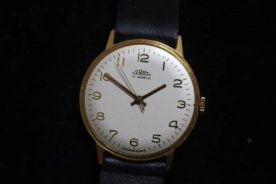 pánské hodinky PRIM 66, bílý číselník, pásek Saturn, TOP STAV