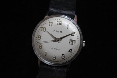 pánské hodinky PRIM 68, bílý číselník, pásek Saturn, TOP STAV