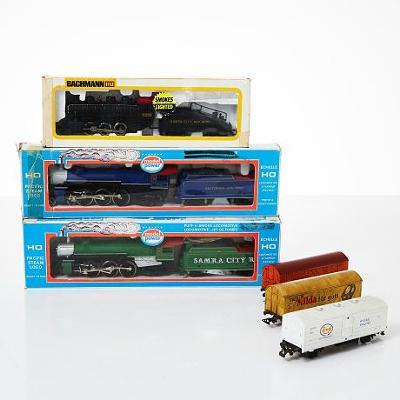 Konvolut vláčků HO 3 x lokomotiva, 3 x vagon