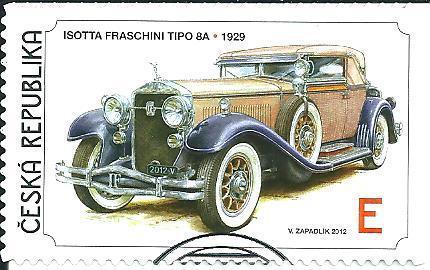 Světová auta 2012, raž. zn. smytá s raz. FDC, NL. k.č. 740.