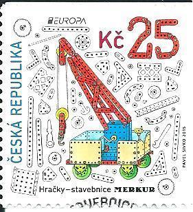 EUROPA - Hračky 2015, raž. zn. smytá s raz. FDC, NL. k.č. 848.