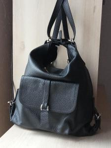 Kožená kabelka - batoh 35x37cm