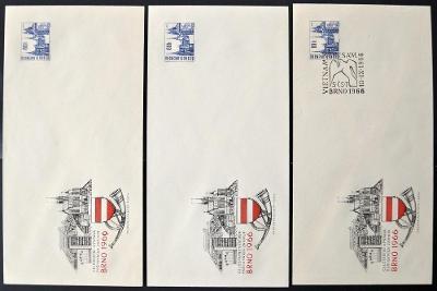 ČSSR - POF. COB 18B - 3x CELINOVÁ OBÁLKA BRNO 1966 (S1119)