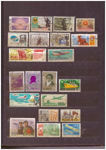 SBÍRKA ZNÁMEK SVĚT - KUBA, SSSR, ČÍNA, POLSKO... + ZÁSOBNÍK (T7735)
