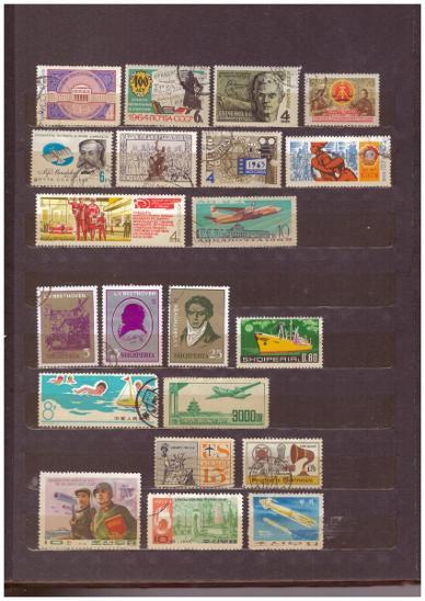 SBÍRKA ZNÁMEK SVĚT - KUBA, SSSR, ČÍNA, POLSKO... + ZÁSOBNÍK (T7735) - Filatelie