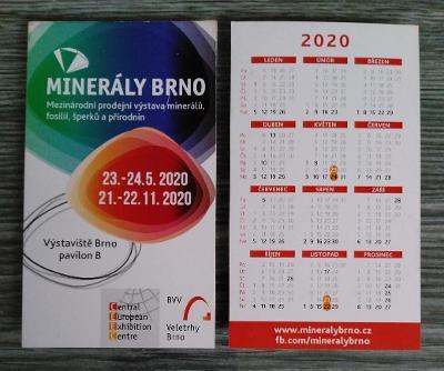 Kartičkové kalendáře rok 2020